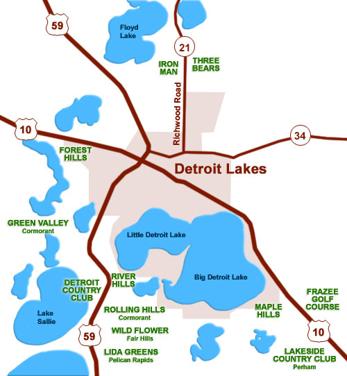 Detroit Lakes area golf courses